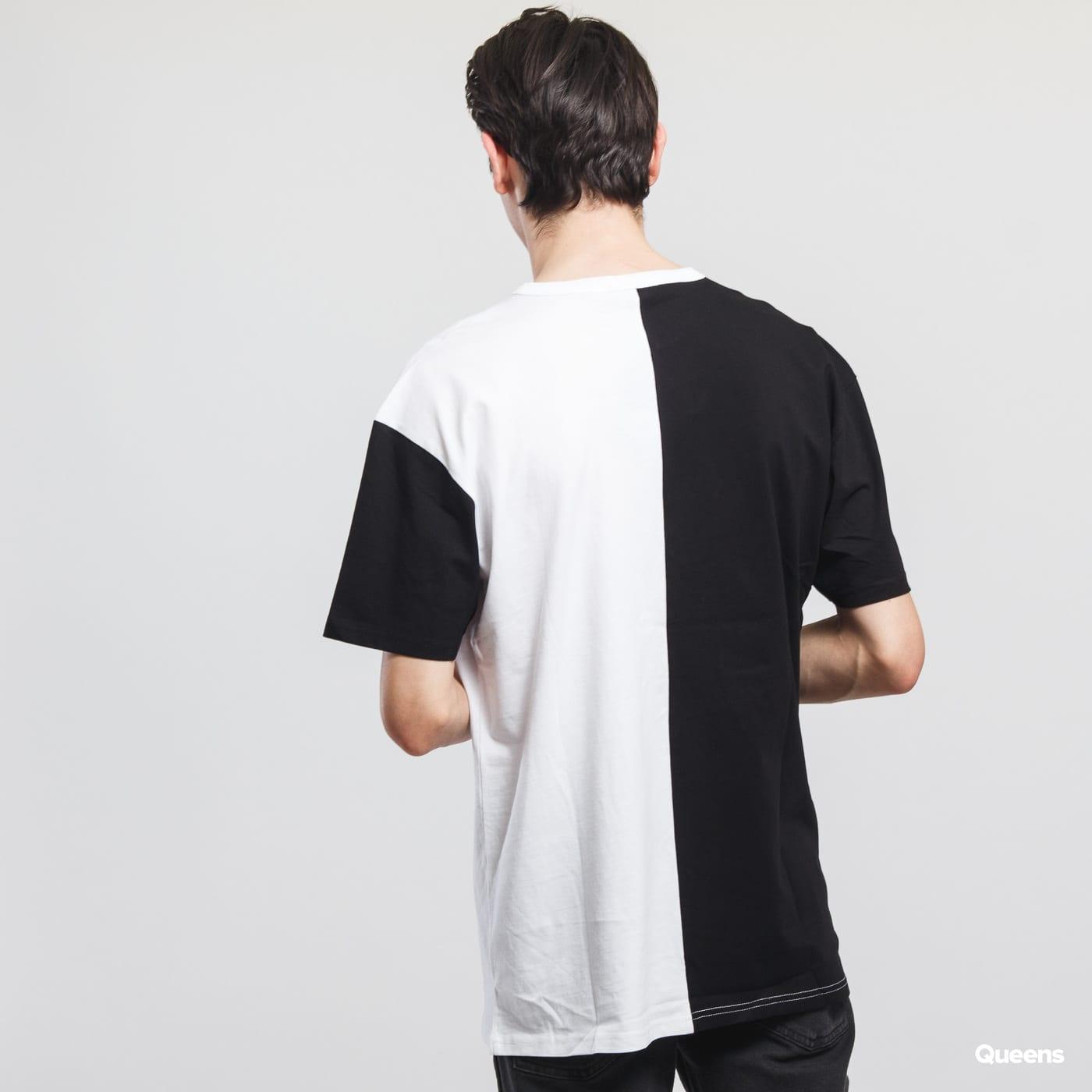 Urban Classics Oversize Harlequin Tee biele / čierne