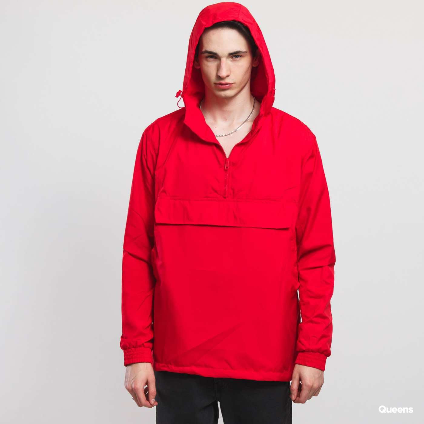 Urban Classics Basic Pull Over Jacket red