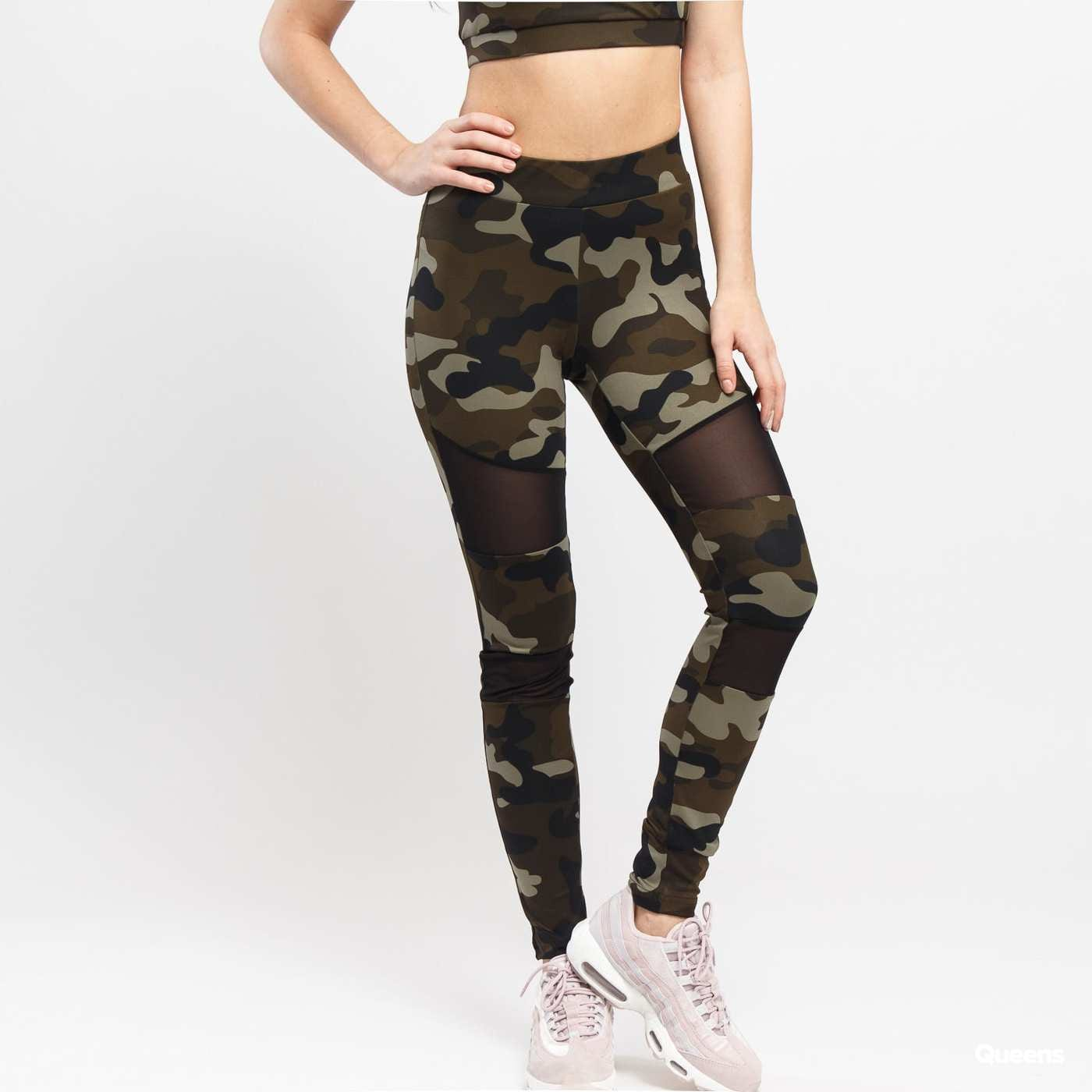 Urban Classics Ladies Camo Tech Mesh Leggings camo grün