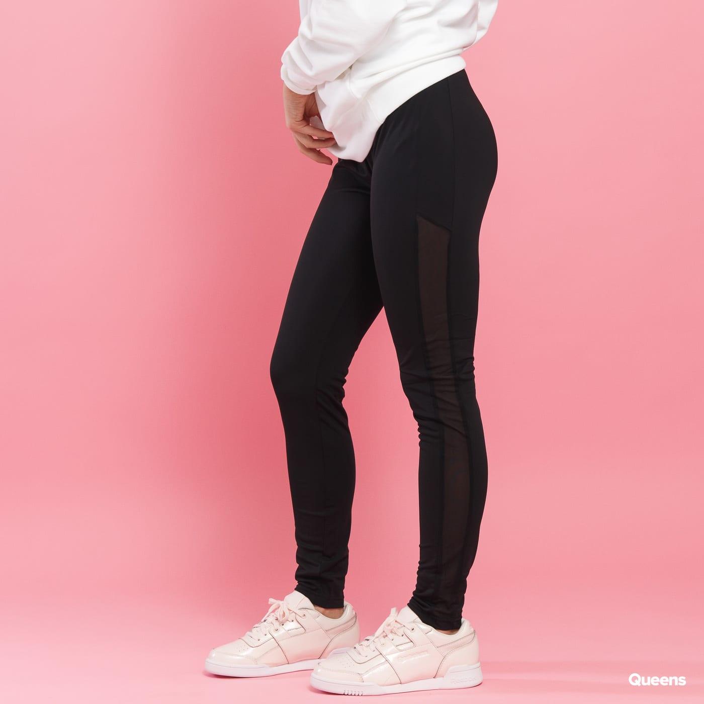 Urban Classics Ladies Tech Mesh Stripe Leggings čierne