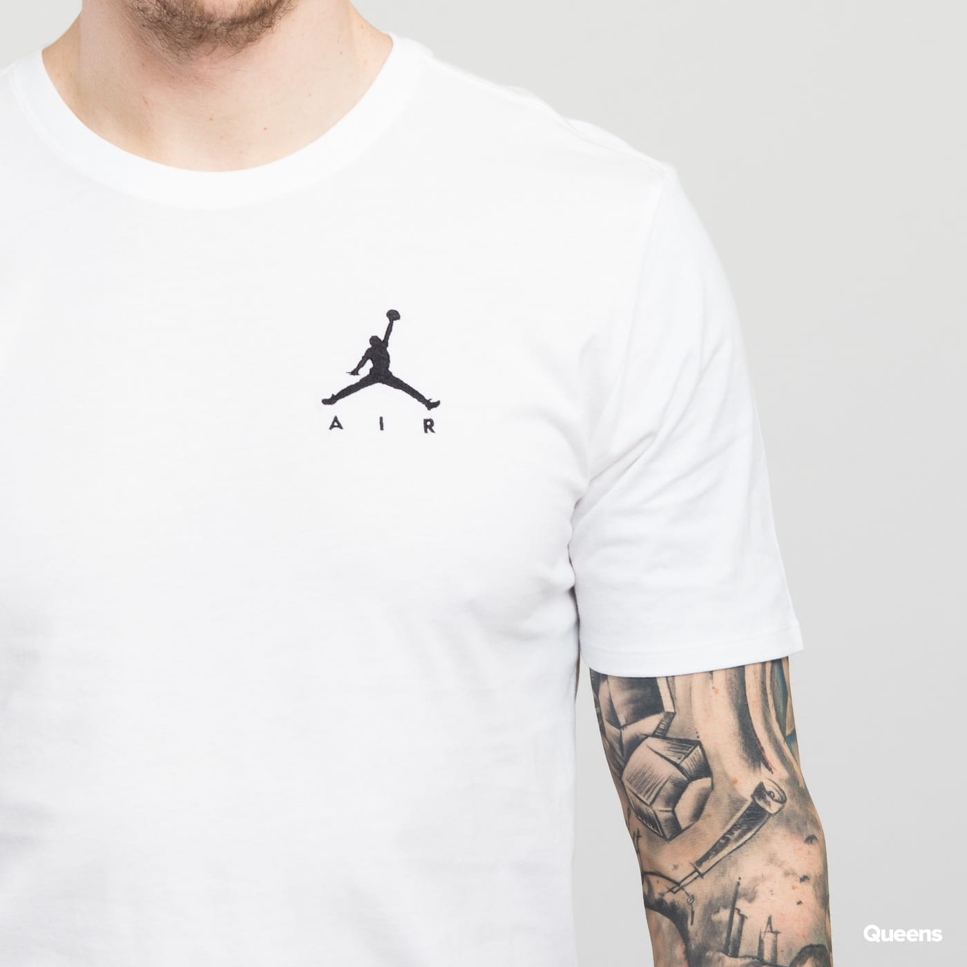 Jordan Jumpman Air Embroided Tee biele