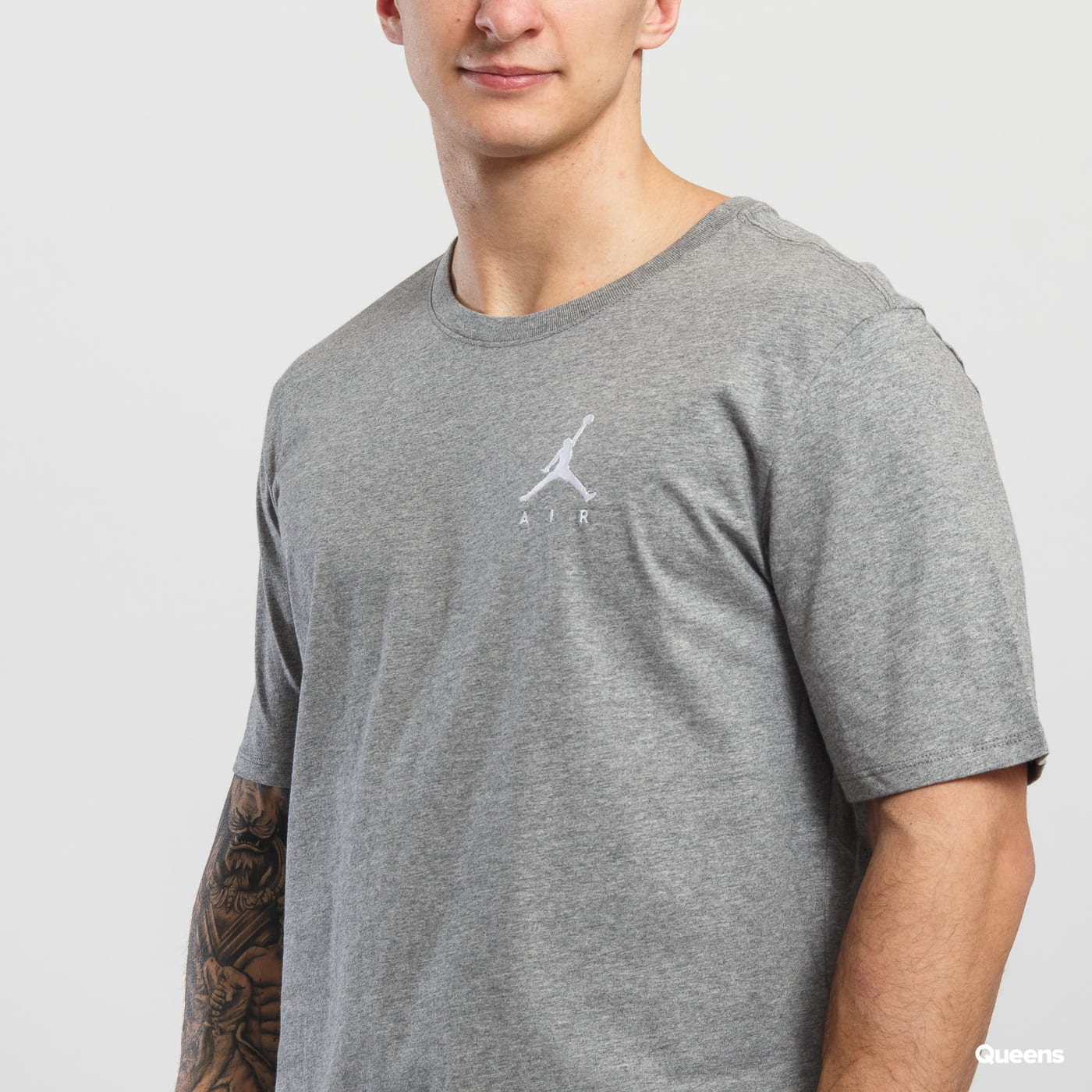 Jordan Jumpman Air Embroided Tee melange šedé