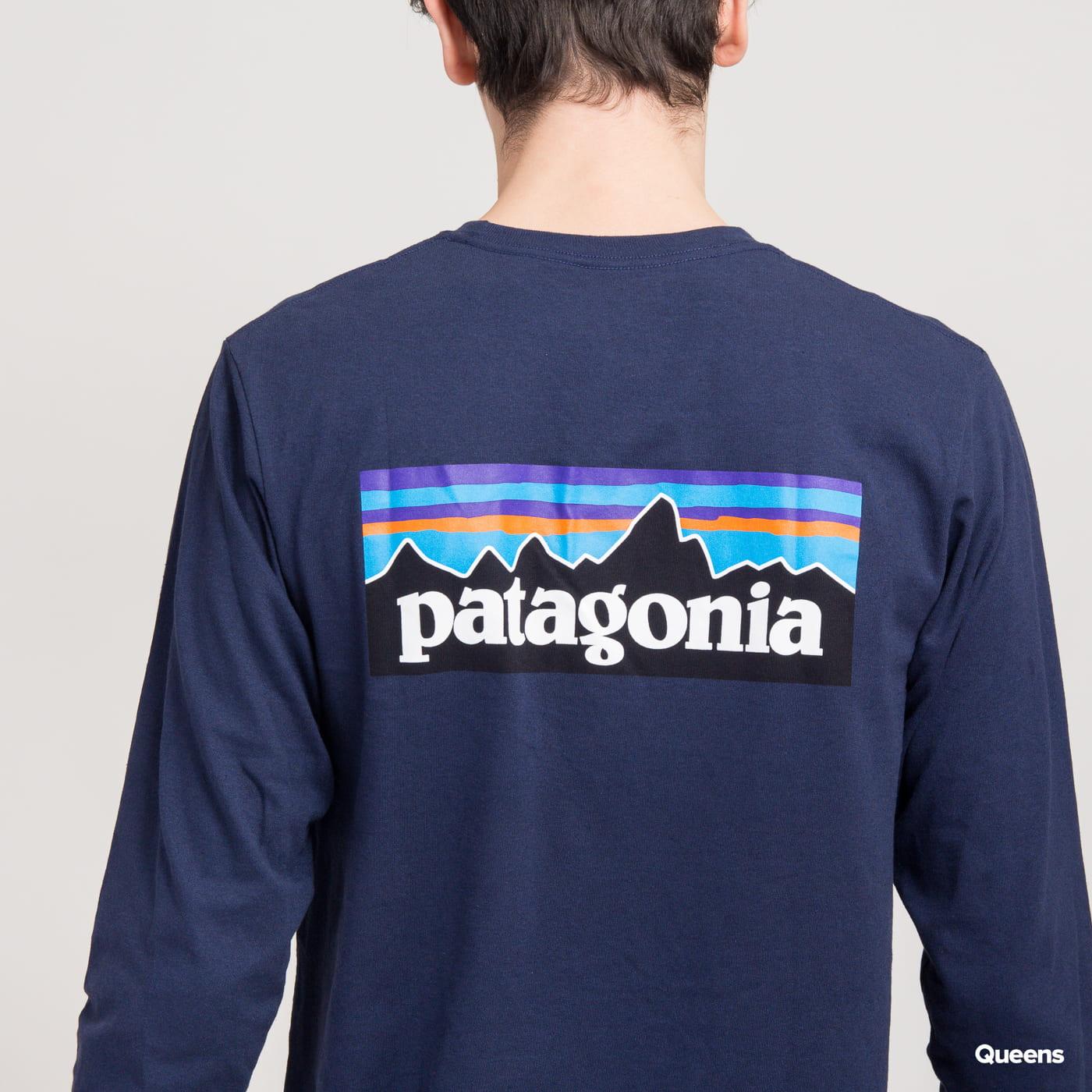 Patagonia M's L/S P6 Logo Responsibili Tee navy