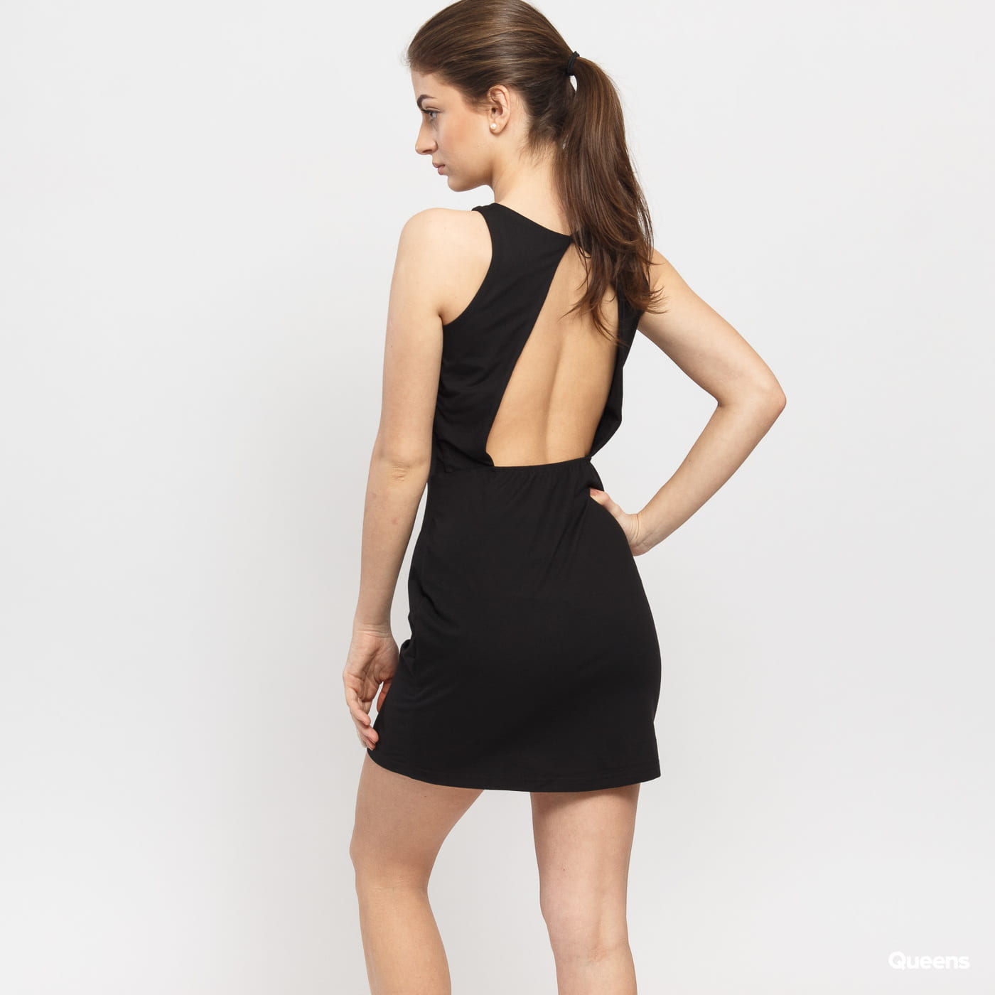 Urban Classics Ladies Back Cut Out Dress čierne