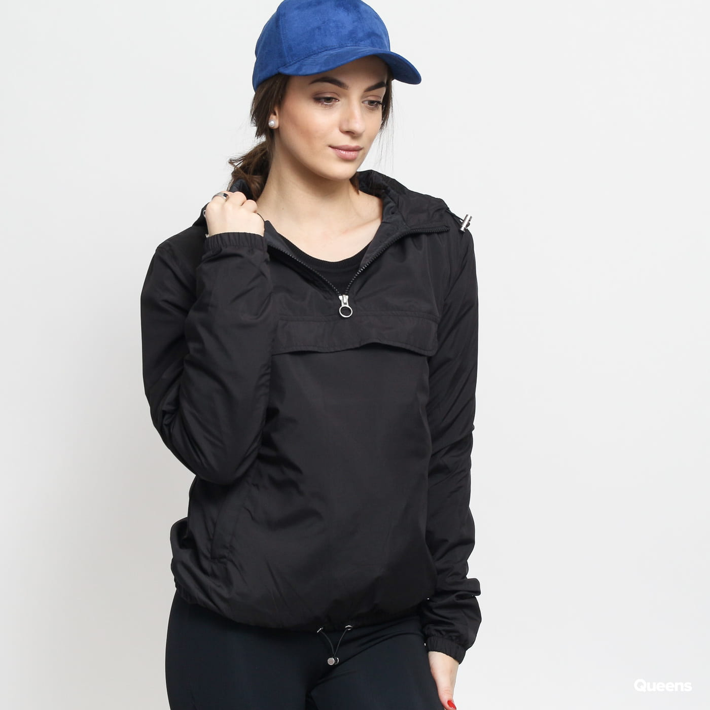 Urban Classics Ladies Basic Pull Over Jacket čierna