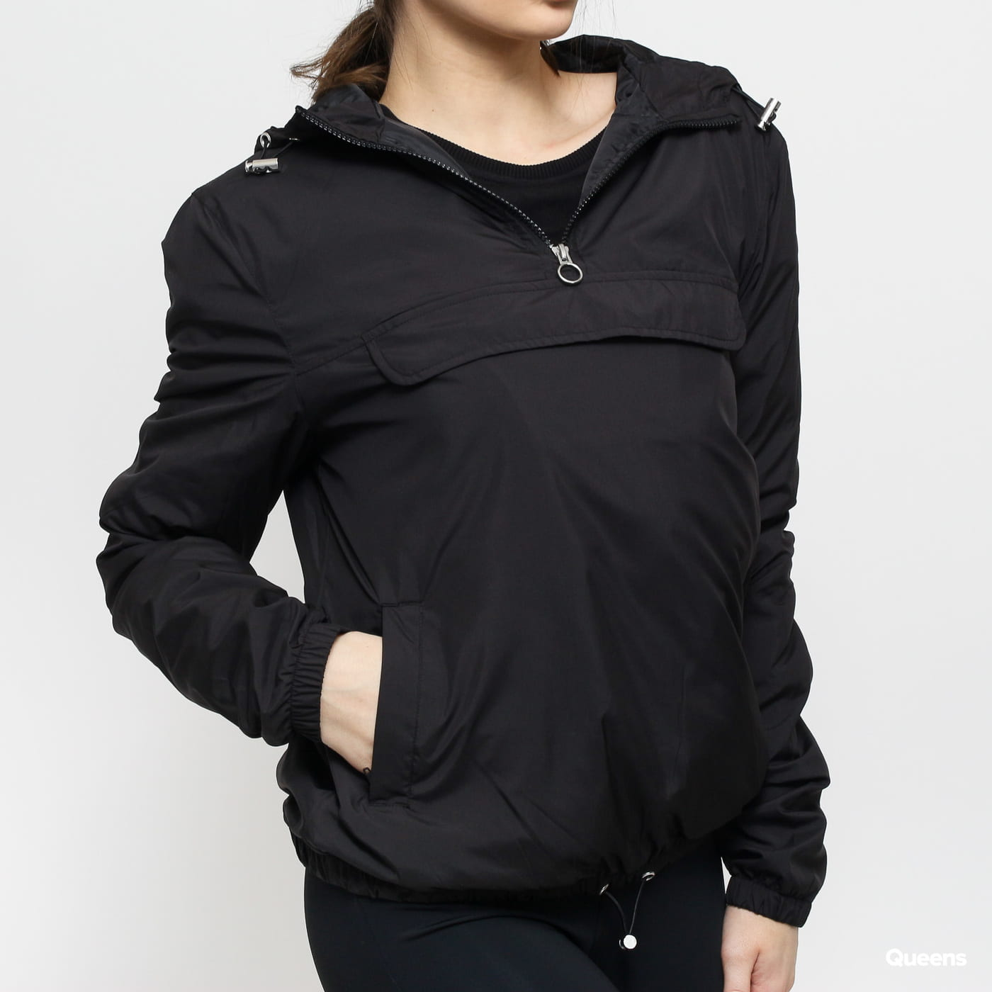 Urban Classics Ladies Basic Pull Over Jacket schwarz