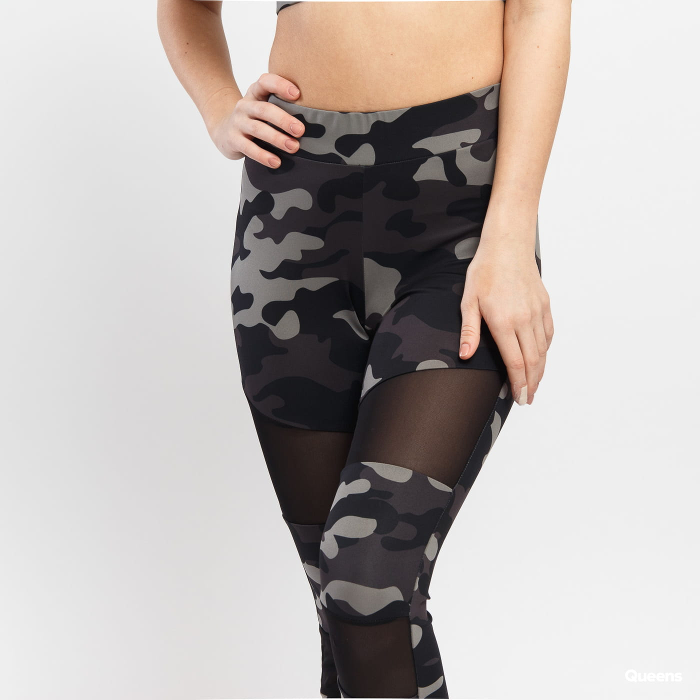 Urban Classics Ladies Camo Tech Mesh Leggings camo gray