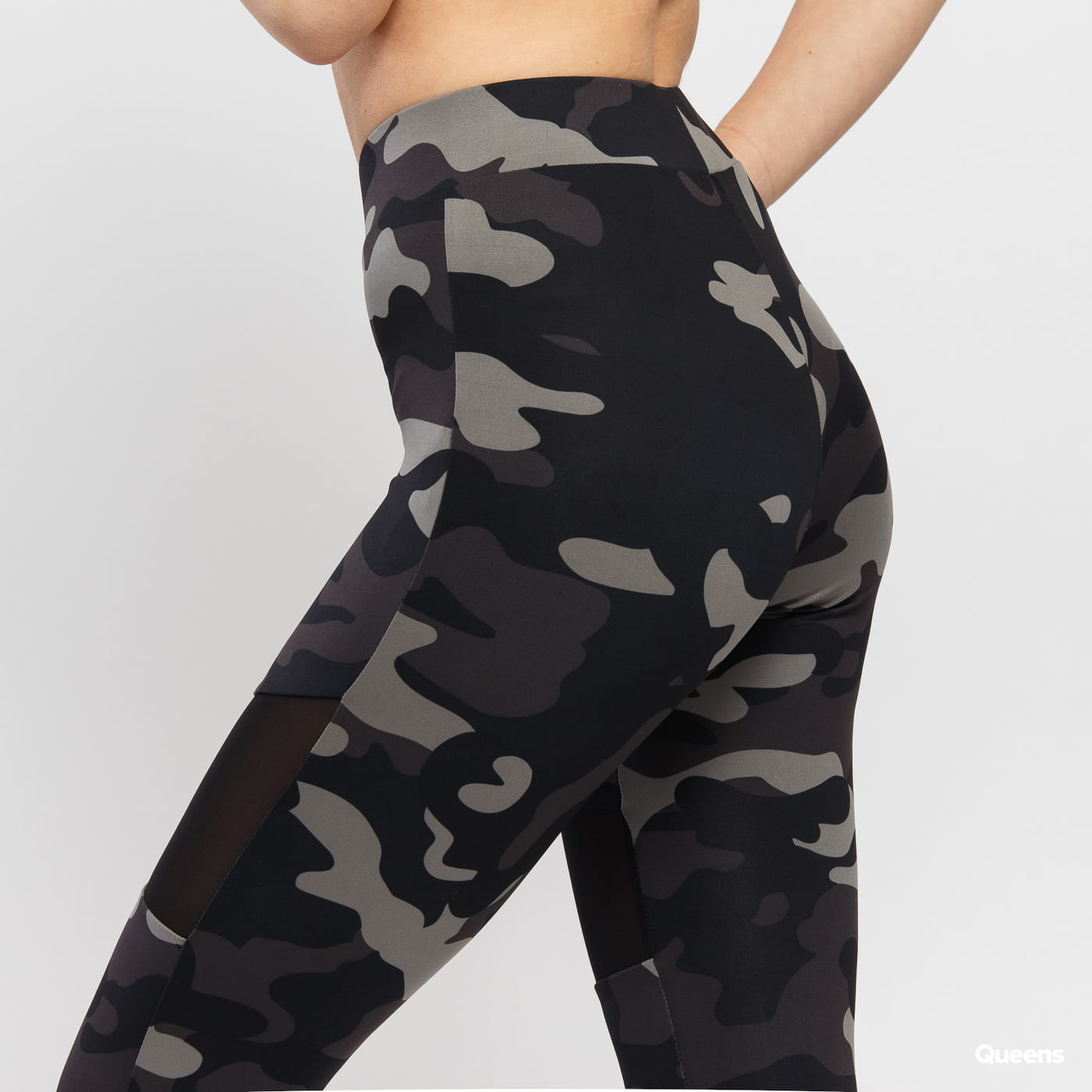 Urban Classics Ladies Camo Tech Mesh Leggings camo Grau