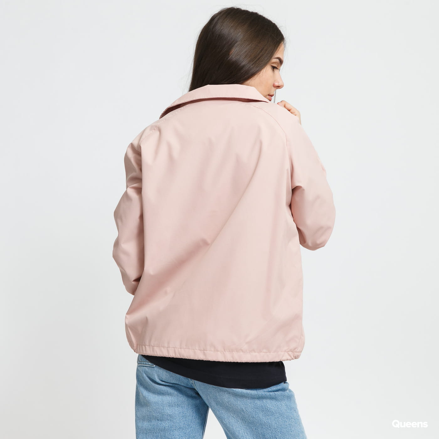 Urban Classics Ladies Coach Jacket ružová