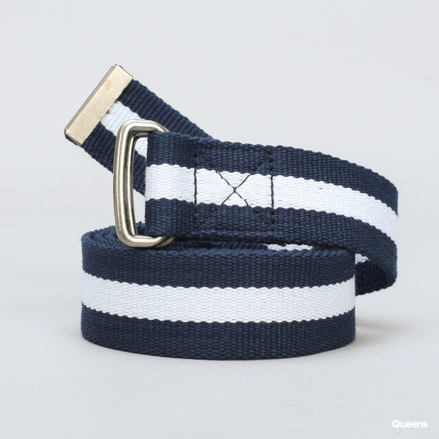 Urban Classics Stripe Belt navy / biely