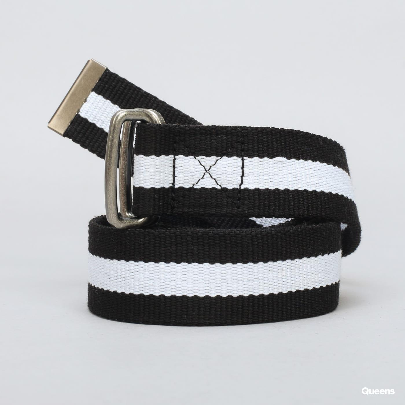 Urban Classics Stripe Belt čierny / biely