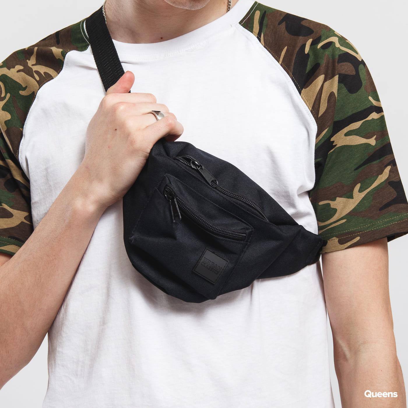 Urban Classics Triple - Zip Hip Bag čierna