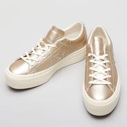 Converse One Star Platform OX light gold / light gold / egret