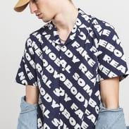 WOOD WOOD Brandon Shirt navy / bílá