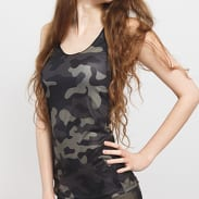 Urban Classics Ladies Camo Top camo šedý