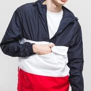 Urban Classics Color Block Pull Over Jacket navy / bílá / červená
