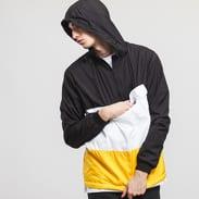 Urban Classics Color Block Pull Over Jacket černá / bílá / žlutá