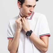 Urban Classics Double Stripe Poloshirt bílé / zelené / červené