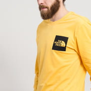 The North Face M LS Fine T-Shirt gelb