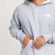 The North Face M Raglan Red Box Hoodie grey melange