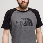 The North Face M SS Rag Easy Tee melange tmavě šedé / černé