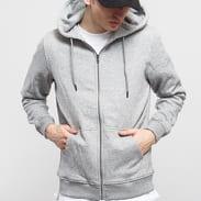 Urban Classics Basic Zip Hoody melange šedá