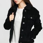 Urban Classics Ladies Sherpa Corduroy Jacket černá