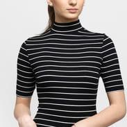 Urban Classics Ladies Striped Turtleneck Body černé / bílé