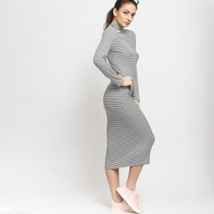 Urban Classics Ladies Striped Turtleneck Dress