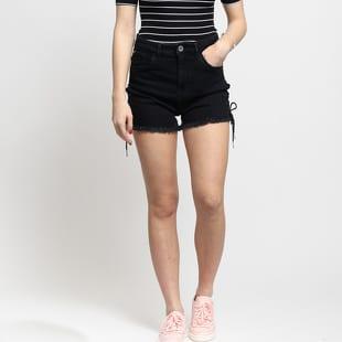 18498d5361aa Urban Classics Ladies Highwaist Denim Lace Up Shorts