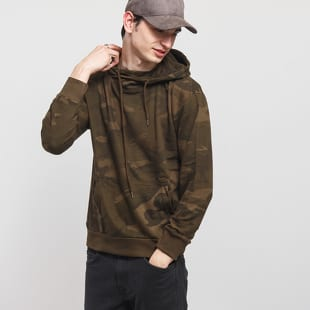 Urban Classics High Neck Camo Hoody