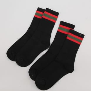 Urban Classics Stripy Sport Socks 2-Pack