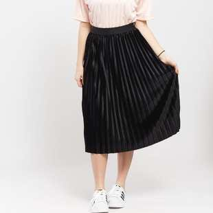 Urban Classics Ladies Velvet Plisse Skirt