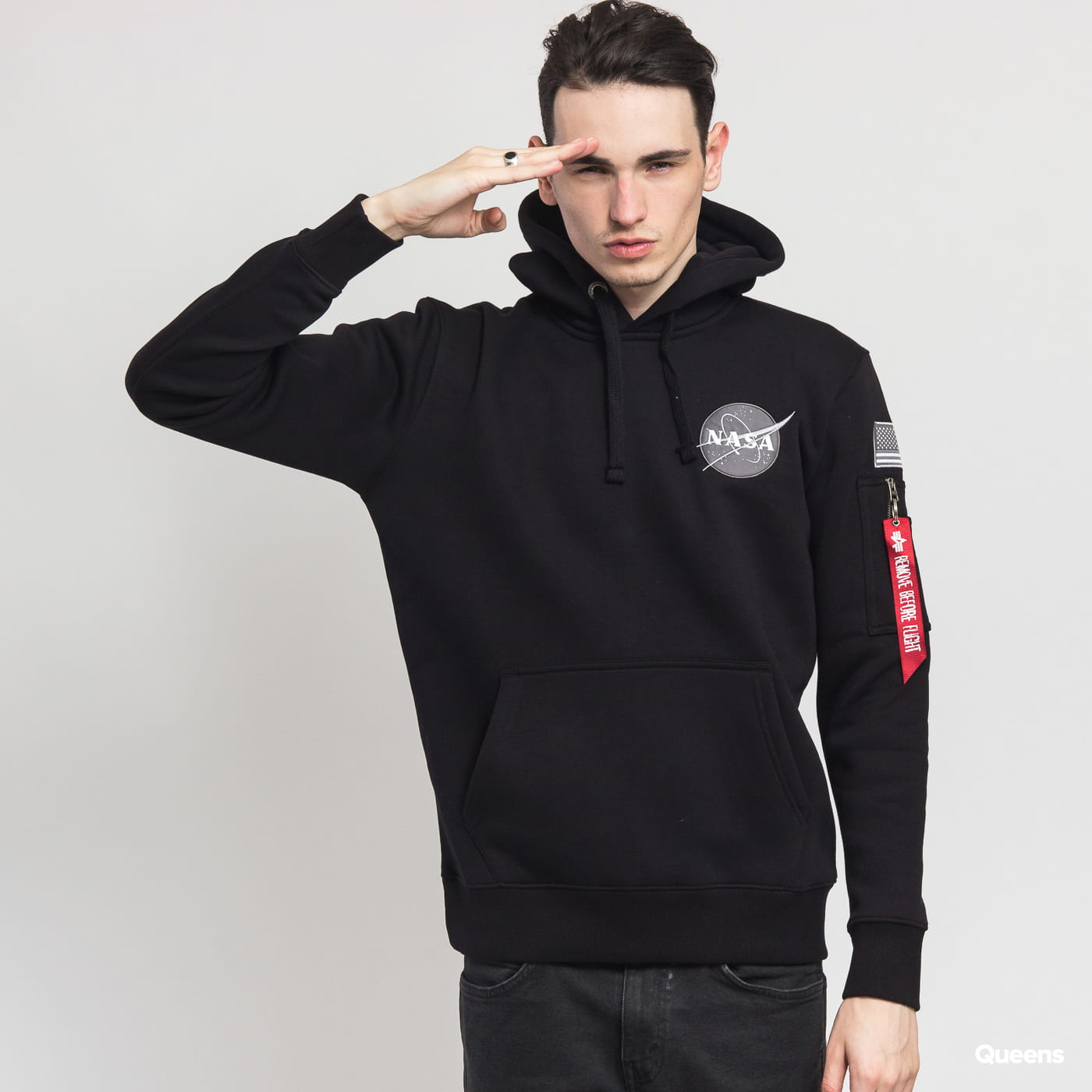Alpha Industries Space Shuttle Hoody čierna