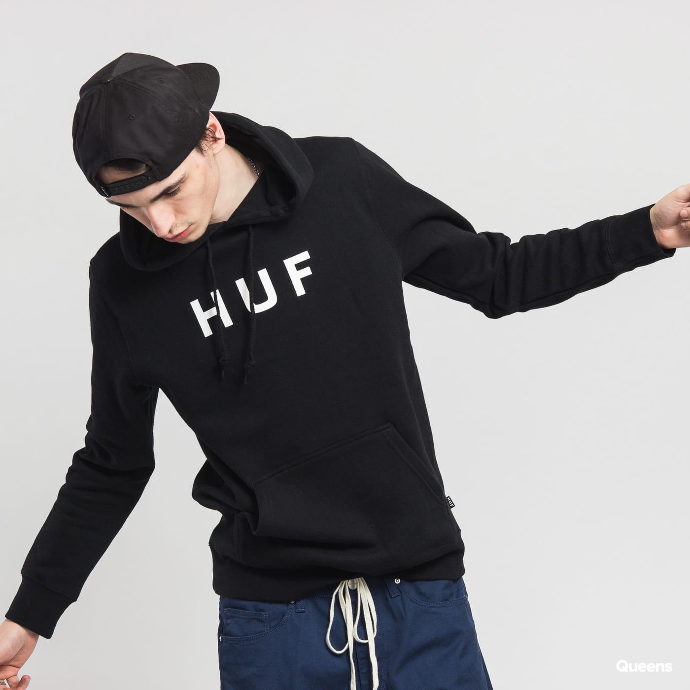 HUF Original Logo Pullover Hoodie čierna