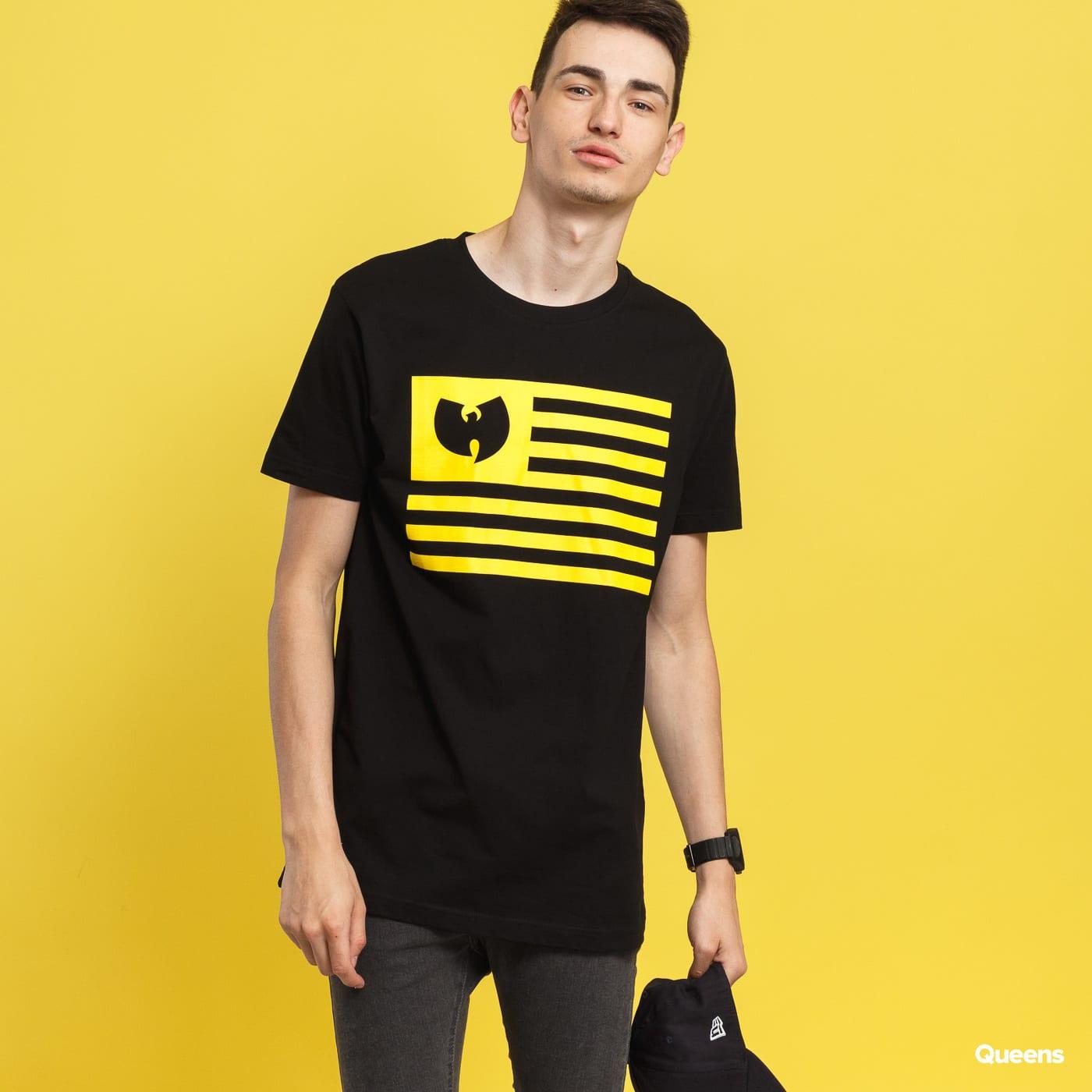 WU WEAR Flag Tee čierne / žlté