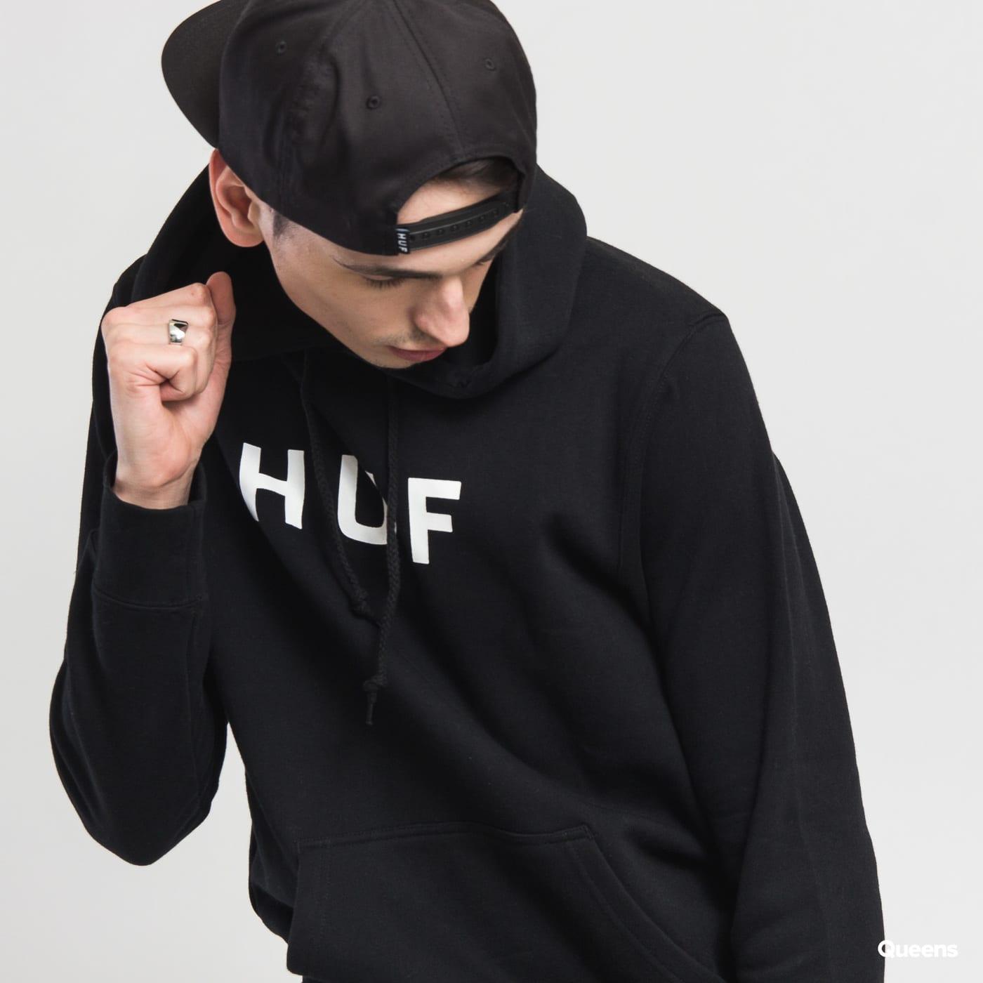 HUF Original Logo Pullover Hoodie schwarz