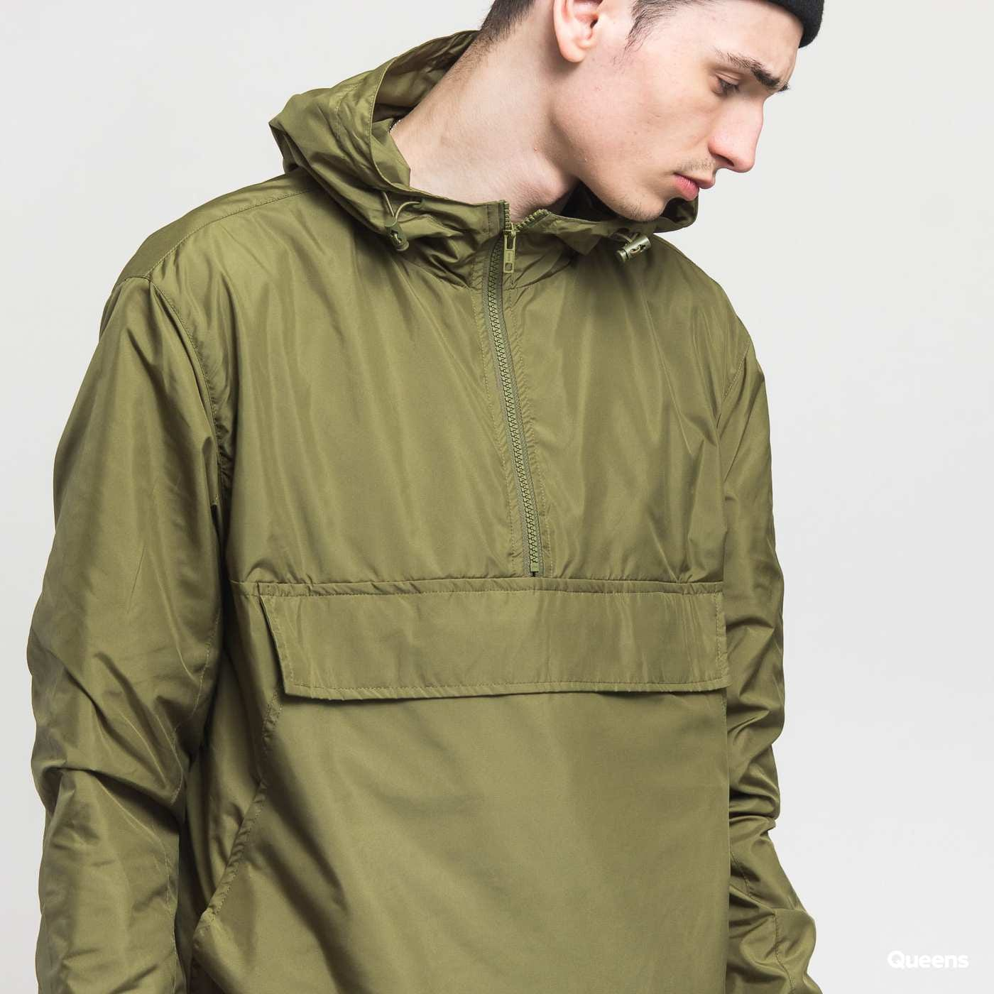 Urban Classics Basic Pull Over Jacket olive