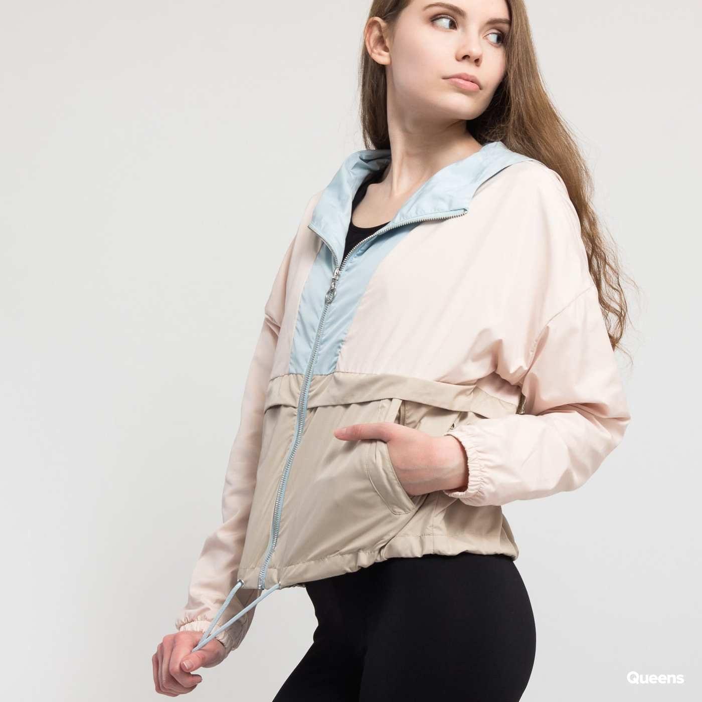 Urban Classics Ladies 3-Tone Oversize Windbreaker beige / hellrosa / hellblau