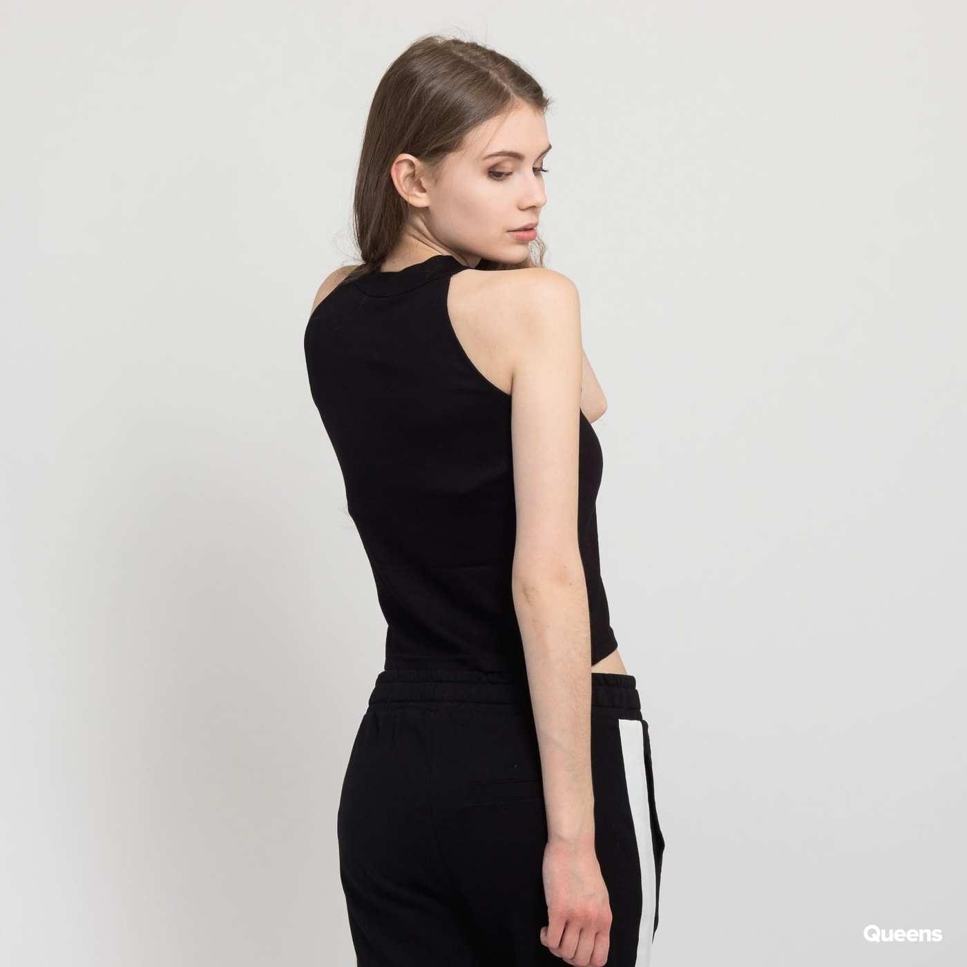 Urban Classics Ladies Rib Turtleneck Cropped Top schwarz