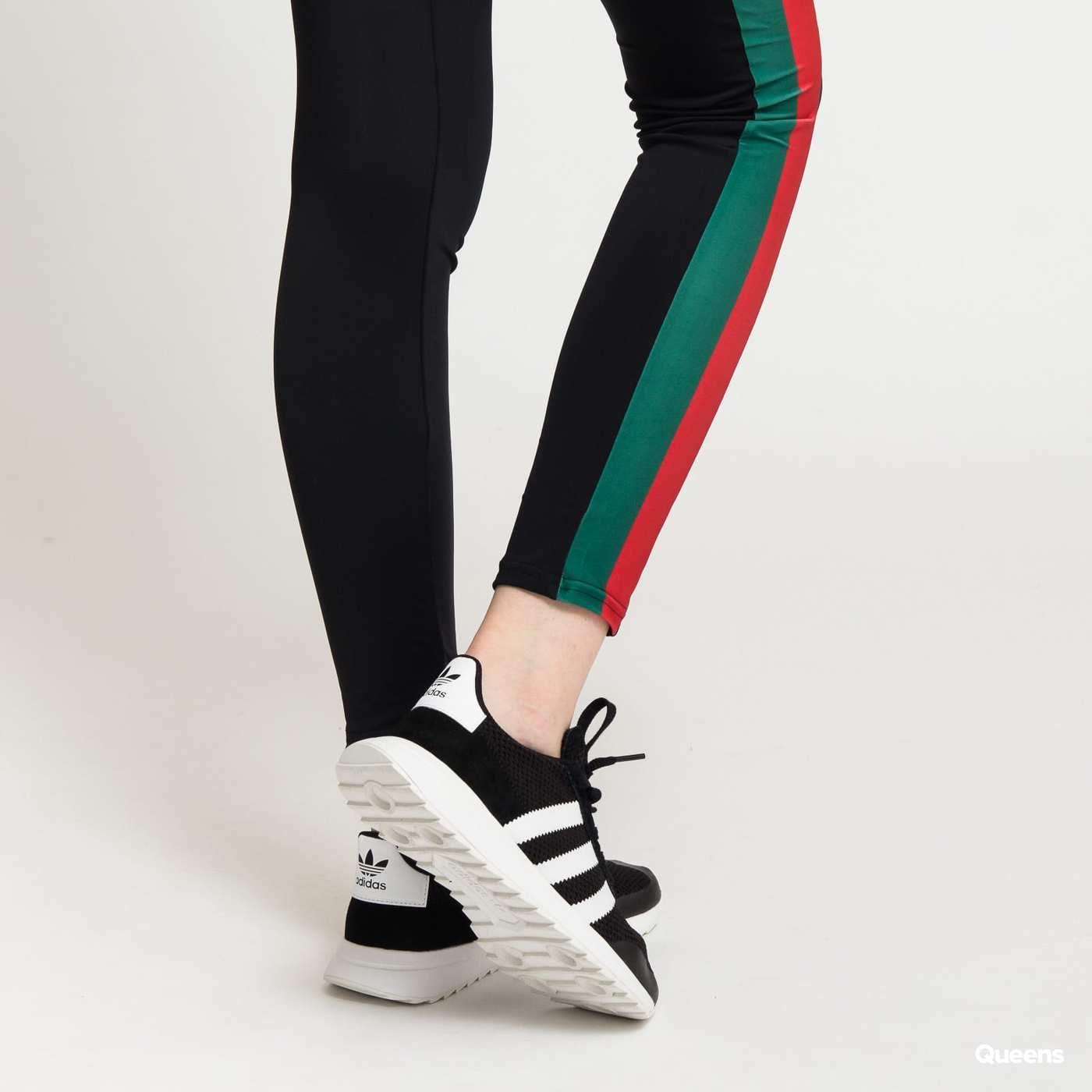 Urban Classics Ladies Side Stripe Leggings black / green / red