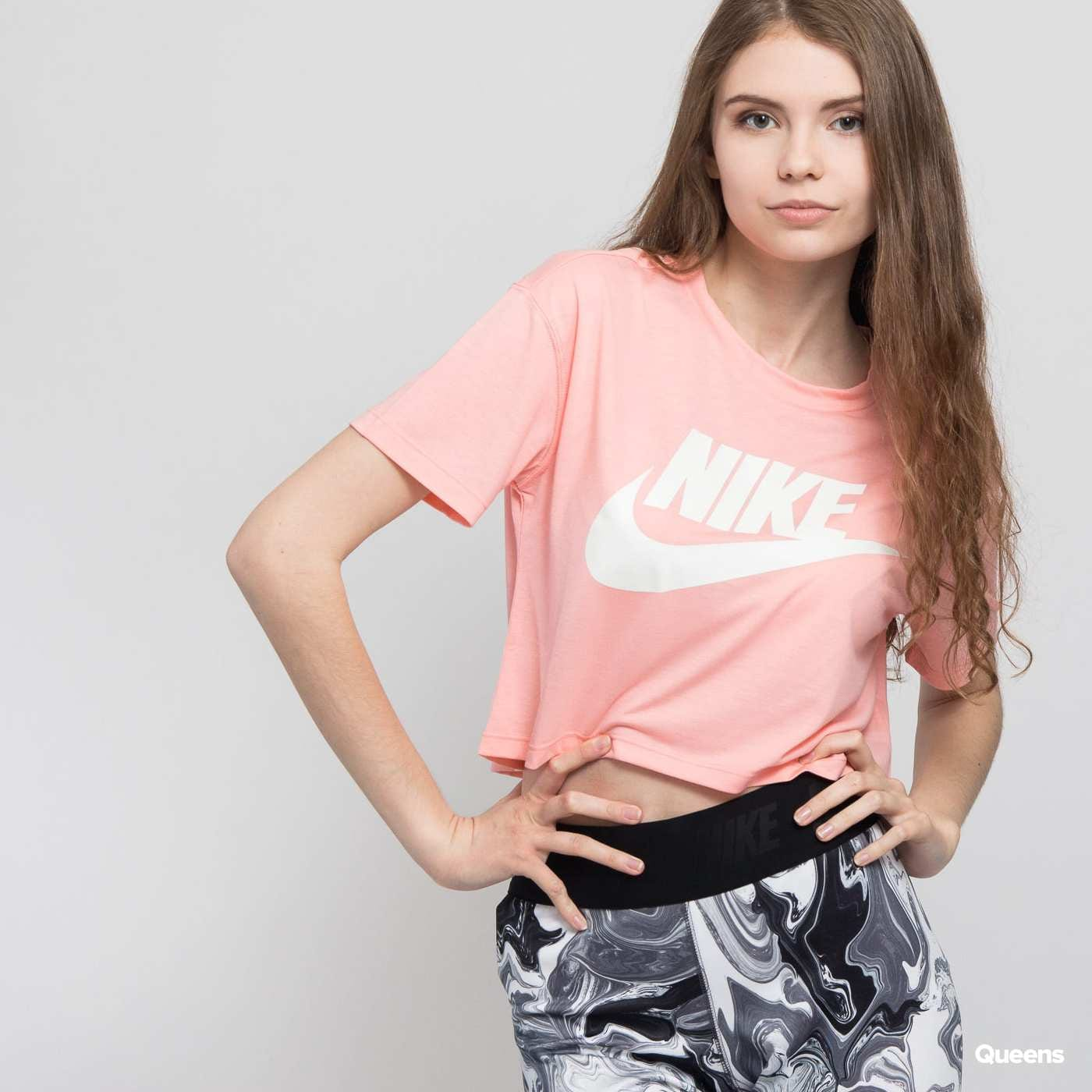 nike w nsw essntl top crop ss t-shirt damen