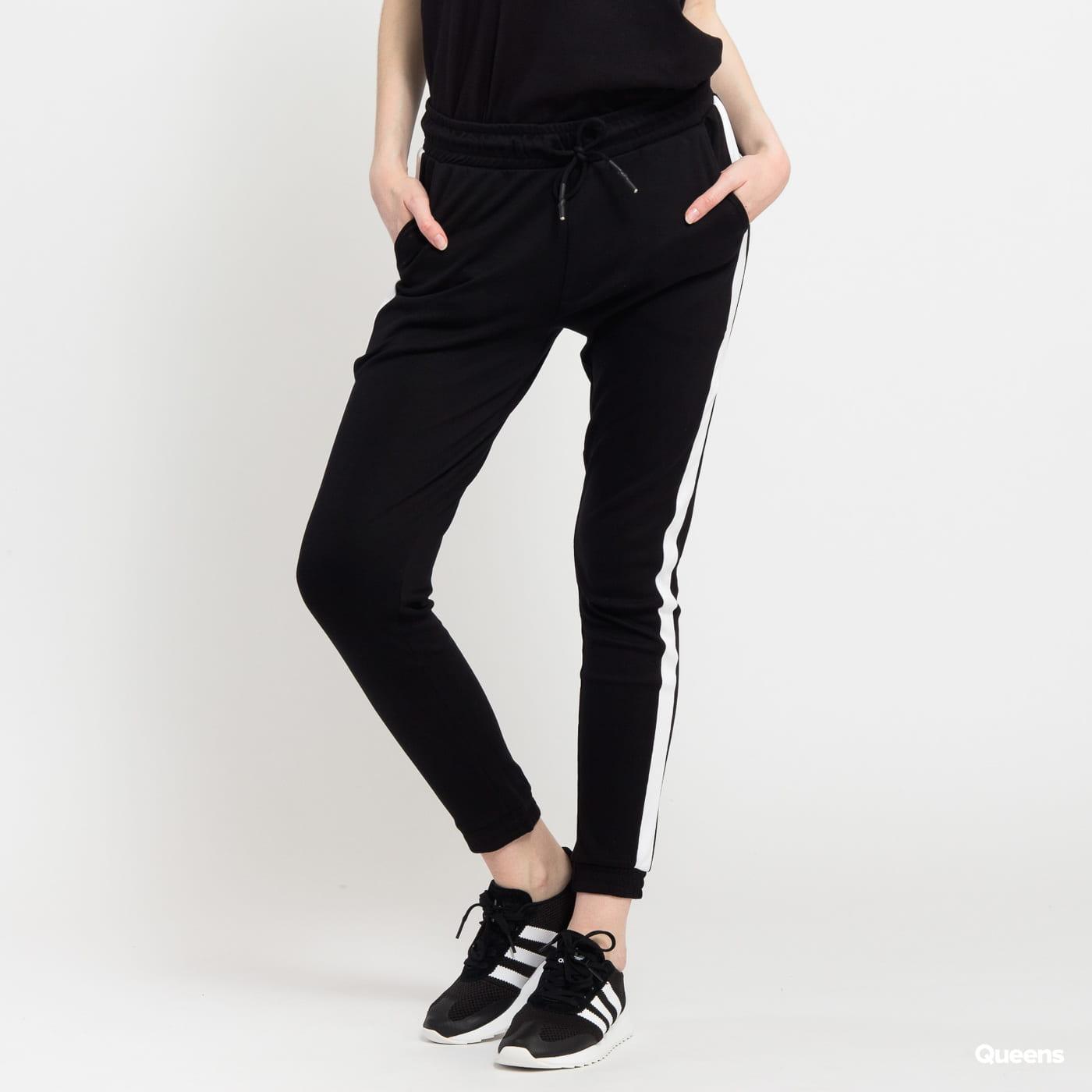 Urban Classics Ladies Interlock Jogpants čierne / biele