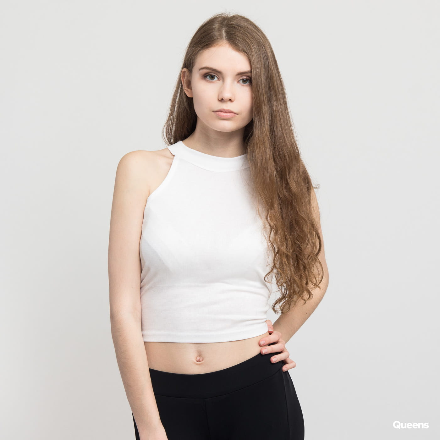 07b5ce8f2568 Dámske tielko Urban Classics Ladies Rib Turtleneck Cropped Top (TB1894)–  Queens 💚