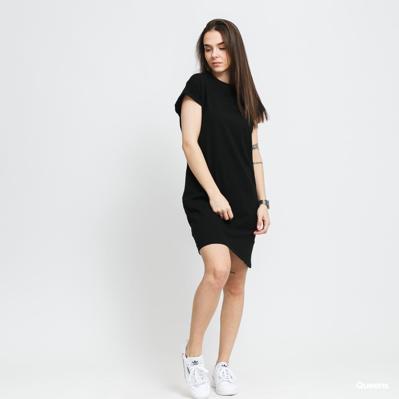 Urban Classics Ladies Turtle Extended Shoulder Dress schwarz