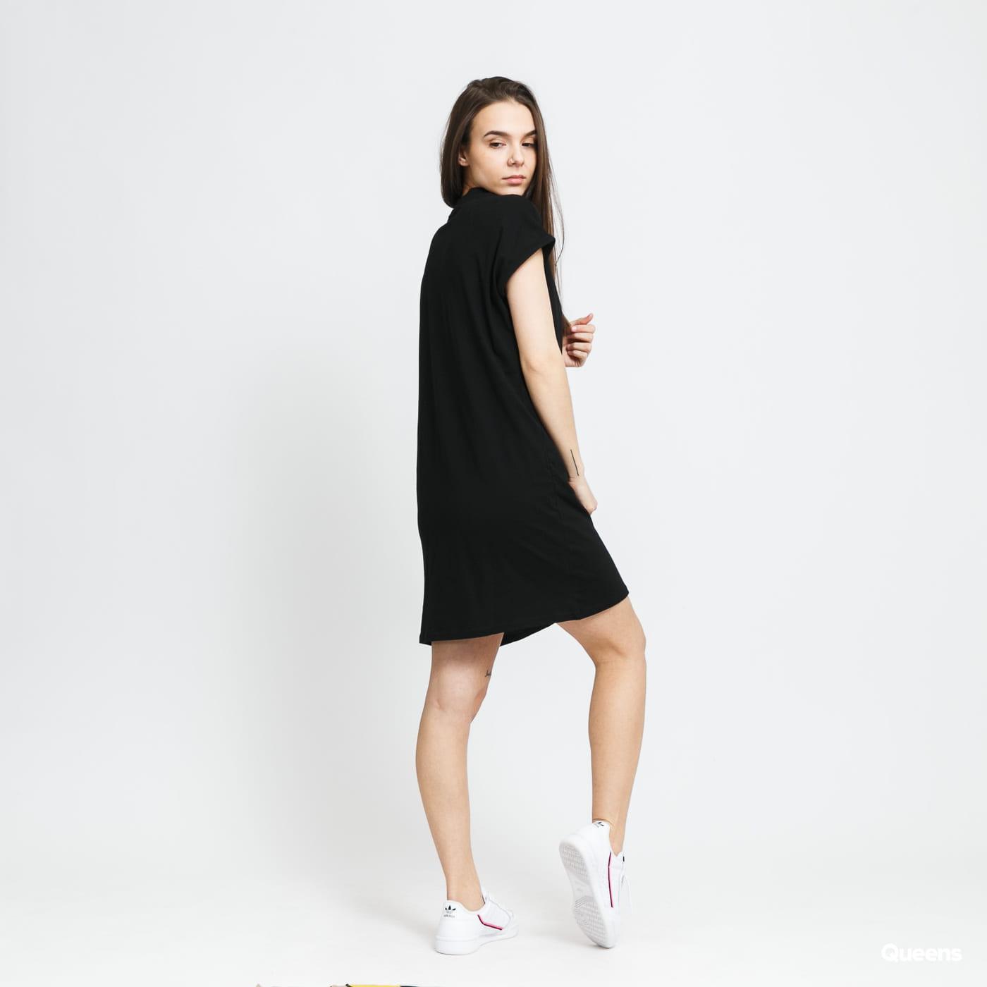 Urban Classics Ladies Turtle Extended Shoulder Dress čierne