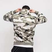 Nike M NSW Club Camo Hoodie FZ camo olivová / šedá / černá