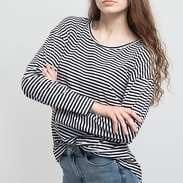 Urban Classics Ladies Oversize Longsleeve černé / bílé