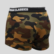 Urban Classics 2-Pack Camo Boxer Shorts camo green / camo gray / black