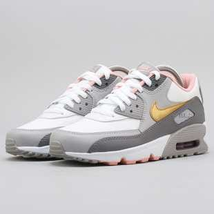 01330a732f Nike Air Max 90 Leather (GS) gunsmoke / metallic gold